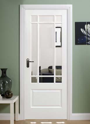 Glazed interior doors